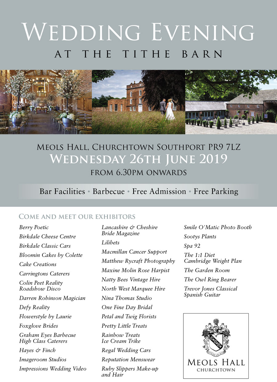 Wedding Evening at the Tithe Barn Meols Hall - Wedding Events Churchtown, Southport, Bar, Barbecue